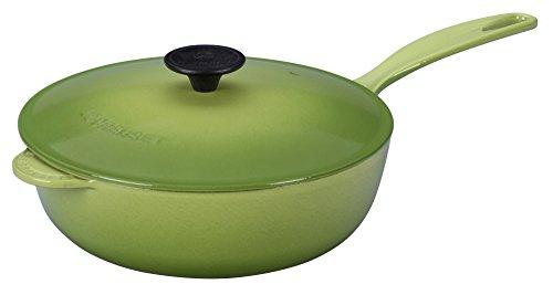 Le Creuset Enameled Cast-Iron 3-Quart Saucier Pan, Palm by Le Creuset