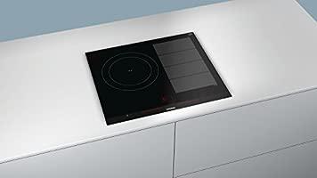 Siemens EX675LJC1E hobs Negro Integrado Con - Placa (Negro, Integrado, Con placa de inducción, 19 cm, 2,2 W, 21 cm)