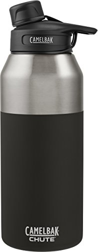 CamelBak 53868 Chute Vacuum Insulated Stainless Water Bottle, 40 oz, Jet by CamelBak