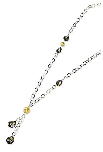 ICE CARATS 925 Sterling Silver Multi Murano Glass Bead Chain Necklace Station Fine Jewelry Gift Set For Women Heart by ICE CARATS (Image #1)