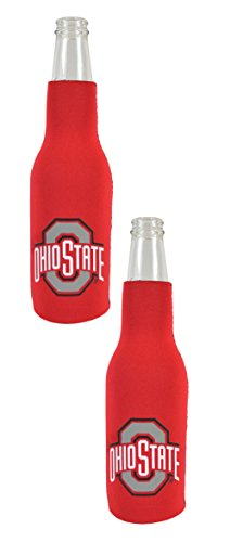 Official National Collegiate Athletic Association Fan Shop Authentic NCAA 2-pack Insulated Bottle Cooler (Ohio State Buckeyes) (Best Beers By State)