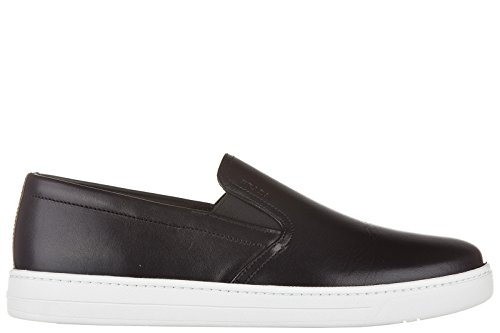 Vitello Sneakers 5 3o9u Pelle 39 On Nuove Plume 4d2733 Slip Eu Nero f0632 Prada Uomo In Originali