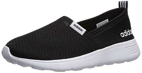 adidas Women's LITE Racer Slip ON W Sneaker, Black/White, 11 M ()