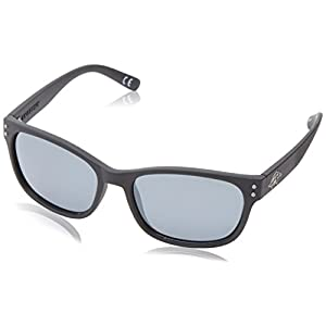 Anarchy Men's Vert Polarized wayshape Sunglasses,Black Rubberized,55 mm
