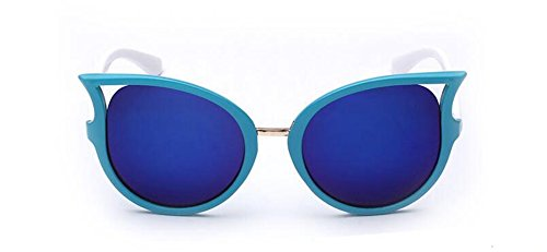 Pour Hommes Métallique Femmes Film et en Polarisées de du Rond Cercle Lunettes Bleu Soleil Retro Style Inspirées Steampunk 7wq4nAO