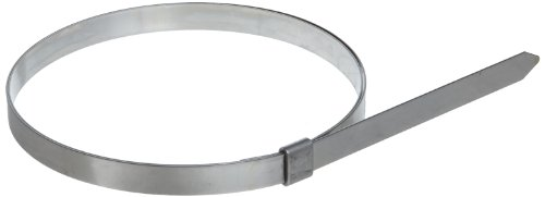 BAND-IT JS2589 Junior 1/4'' Wide x 0.020'' Thick, 4'' Diameter, 201 Stainless Steel Smooth I.D. Clamp (100 Per Box) by Band-It