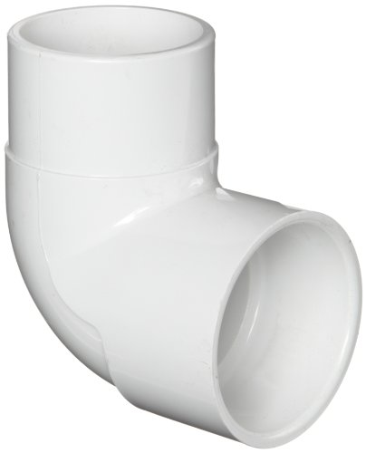 "Spears 409 Series PVC Pipe Fitting, 90 Degree Elbow, Schedule 40, 2"" Spigot x Socket"
