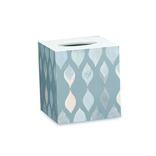 (Shell Rummel Tissue Box Holder, Sea Glass Collection, Teal)