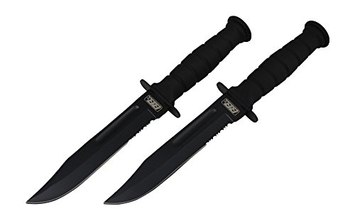 Pack of 2 Rogue River Tactical Knives Black 7.5