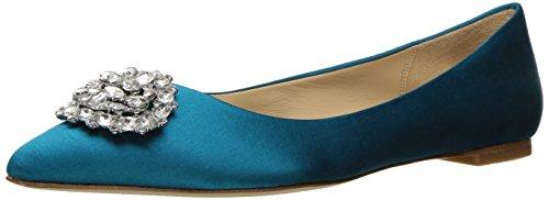 Price comparison product image Badgley Mischka Women's Davis Dress Sandal,  Calypso Blue,  8 M US