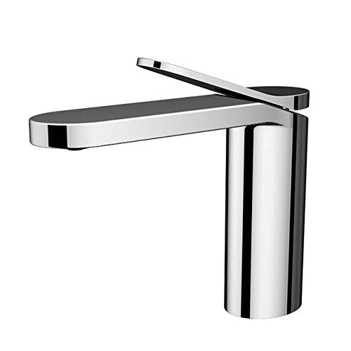 Bathroom copper-plated chrome single-handed mixed-water washbasin faucet European-style cold and hot carbon-lead porcelain table top basin faucet