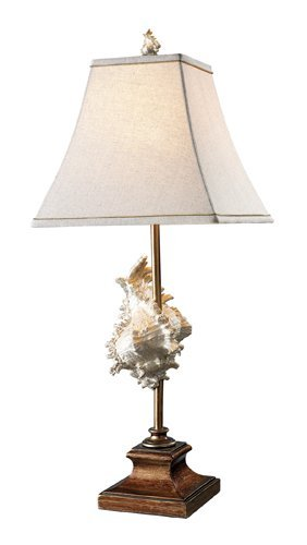 Chocolate Bronze Buffet (Dimond D1979 12-Inch Width by 30-Inch Height Delray Table Lamp in Conch Shell and Bronze with Cream Natural Linen Shade - Cream Fabric Liner/ Chocolate Soutash)