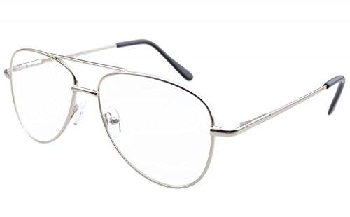 Eyekepper resorte marco de bisasgras con de metal oro Piloto 75 estilo Gafas Plata 0 zqw81xtrz