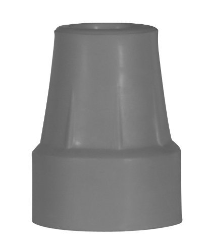 Drive Crutch Tips Gray- 1 Pair - Fits Crutches with 7/8'' Leg Diameter by Drive (Image #1)