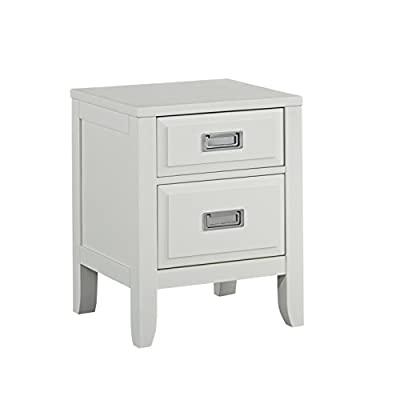 Home Styles Newport Night Stand - Recessed campaign style bushed nickel drawer pulls Raised panel drawer fronts with framed side panels and flared legs add unique design elements to every part of the Night Stand Crafted from mahogany solids and engineered woods - nightstands, bedroom-furniture, bedroom - 31AP7Mdd7sL. SS400  -