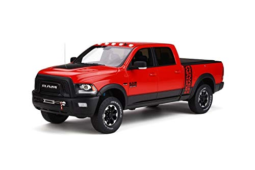 (2017 Dodge Ram 2500 Power Wagon Pickup Truck with Bed Cover Flame Red Limited Edition to 999 Pieces Worldwide 1/18 by GT Spirit GT224 )