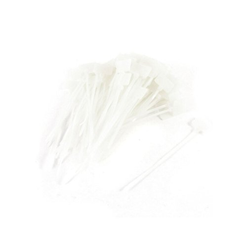 Amgate 100 Pcs Write on Ethernet Wire Zip Ties Cable Mark Tags Nylon Power Marking Label 100pcs