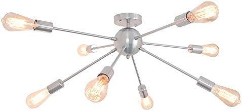 PUMING Sputnik Chandeliers 8 Lights Mid-Century Ceiling Light Fixture