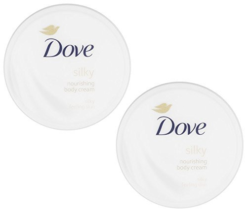 Dove Silky Nourishment Body Cream, 10.1 Ounce / 300 Ml (Pack of 2) (Body Oil Lotion Dove Cream)