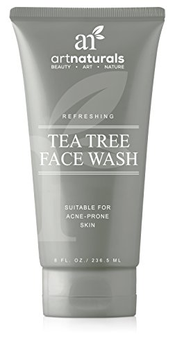 Face Wash - (8 Fl Oz/236ml) - Helps Heal and Prevent Breakouts, Acne and Skin Irritation - Green Tea, 100% Pure Tea Tree Essential Oil, and Aloe Vera (Tea Tree Face Wash)