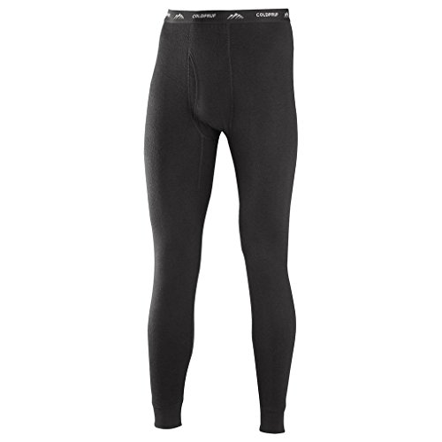 ColdPruf Men's Basic Dual Layer Bottom, Black, X-Large