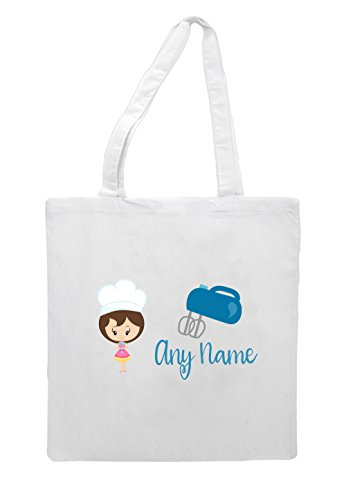 With Mixer Little White Bakers Tote Short Personalised Shopper Bag Lb18 Hair Brown Fd0qYdw