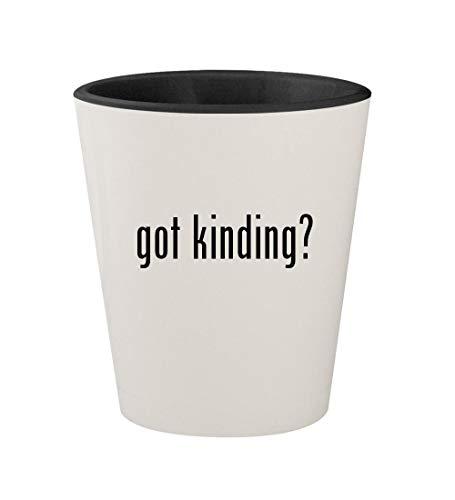 got kinding? - Ceramic White Outer & Black Inner 1.5oz Shot Glass