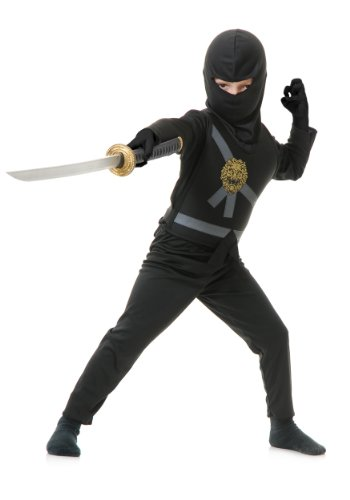 Charades Boys Costume Ninja Avenger Black Large