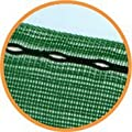 Horticultural 50% Windbreak Shade Netting: UV stabilised, with eyelets, 10m x 1m