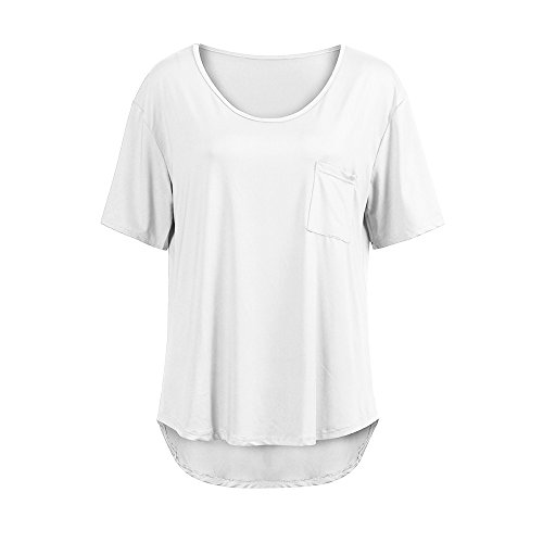YOcheerful Women Plus Size Blouse Loose Shirt V Neck Tops Tee Sexy Crops by YOcheerful (Image #2)