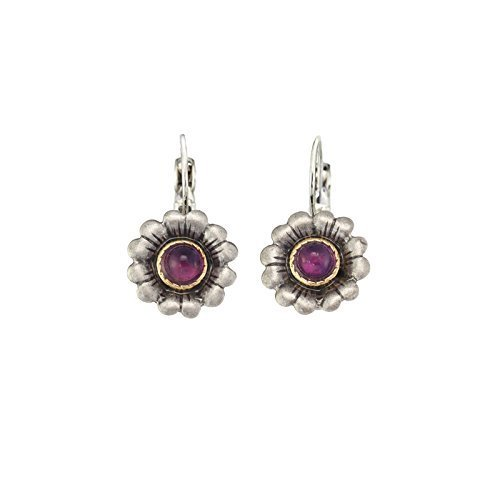 (Amethyst Flower Earrings in Sterling Silver by Michal Golan. Handmade in the USA.)
