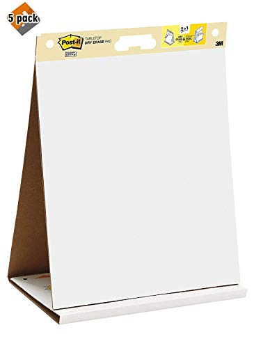 Post-it Super Sticky Tabletop Easel Pad, 20 x 23 Inches, 20 Sheets/Pad, 1 Pad (563R), Portable White Premium Self Stick Flip Chart Paper, Built-in Easel Stand, 5 Pack by Post-it (Image #4)