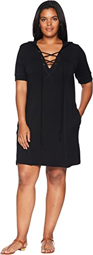 s Size Bailey Hooded Lace-up Tunic Black 2X (Bailey Tunic)