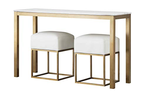 Coast to Coast 18191 Marble Top Table-2 Cartons Console, Gold