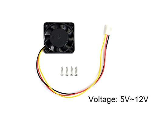 Waveshare Dedicated Cooling Fan for NVIDIA Jetson Nano Developer Kit 3PIN Reverse-Proof Connector 5V~12V Voltage (3pin Fan Connector)