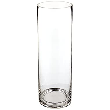 4  x 12  Clear Glass Cylinder Vase (1)