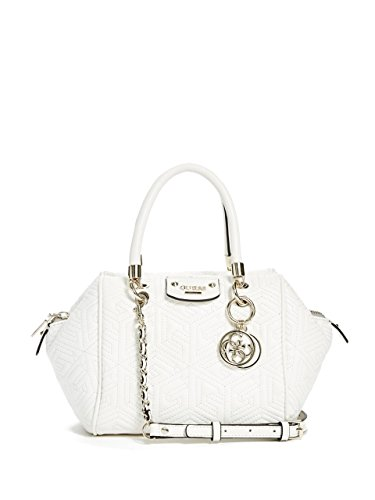 GUESS G Cube Quilt Small Satchel White