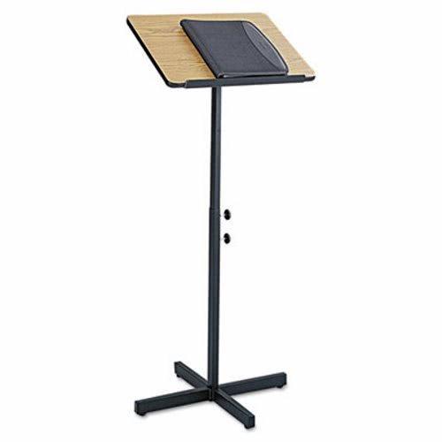 Oak Lectern - Safco Products 8921MO Adjustable Speaker Lectern Stand, Medium Oak