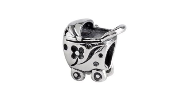 Auténtico Silverado carrito para cuenta para pulsera Chamilia Compatible con joyas Pandora Troll Biagia etc: Amazon.es: Joyería