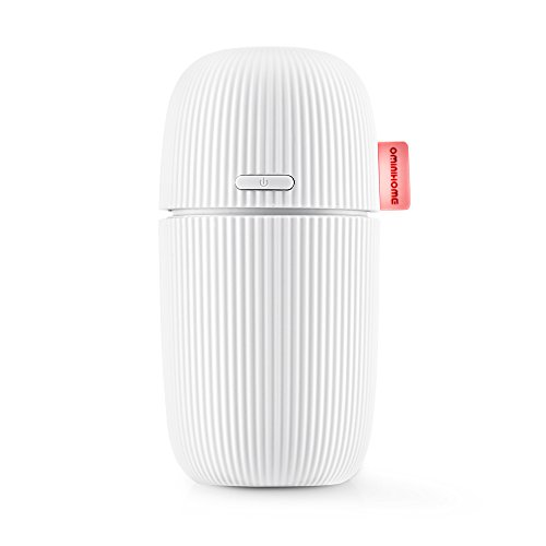 Travel Size USB Car Diffuser for Camping, Personal Humidifier for Desktop, Portable Air Freshener Purifier for Travel, Mini Ultrasonic Cool Mist Humidifier, 110ml Office Desk Humidifier for Gift