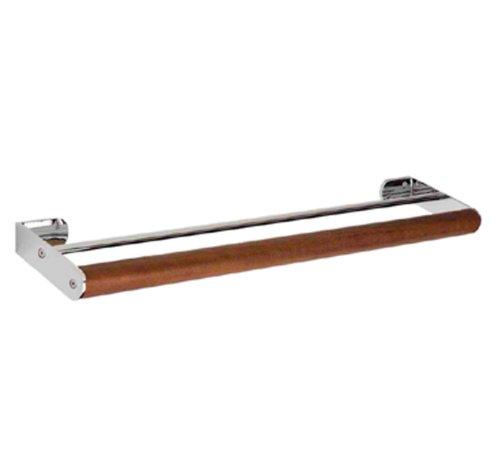 - Whitehaus AMAT07-CHEBONYWO Antonio Miro 3 5/8-Inch Large Double Towel Bar, Chrome/Ebony Wood