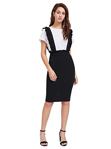 MakeMeChic Womens Bodycon Suspender Overall product image