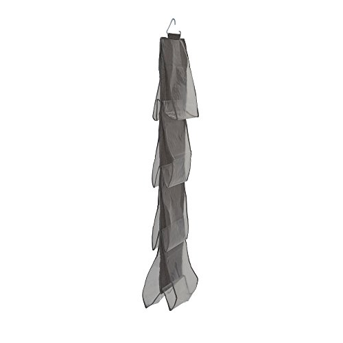 Household Essentials 66490 Linen 8 Pocket Hanging Handbag Storage Organizer Gray ()