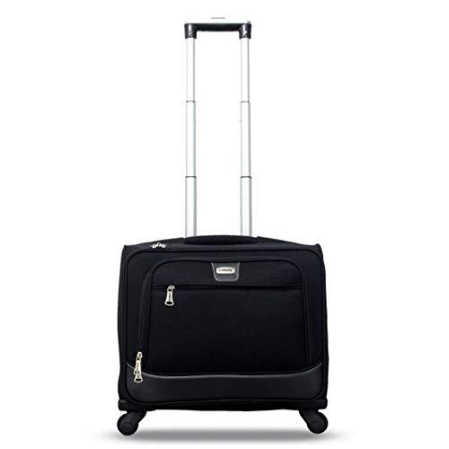 Timus Atlanta Cabin Luggage   17 inch  Black  Overnighter Laptop Bag