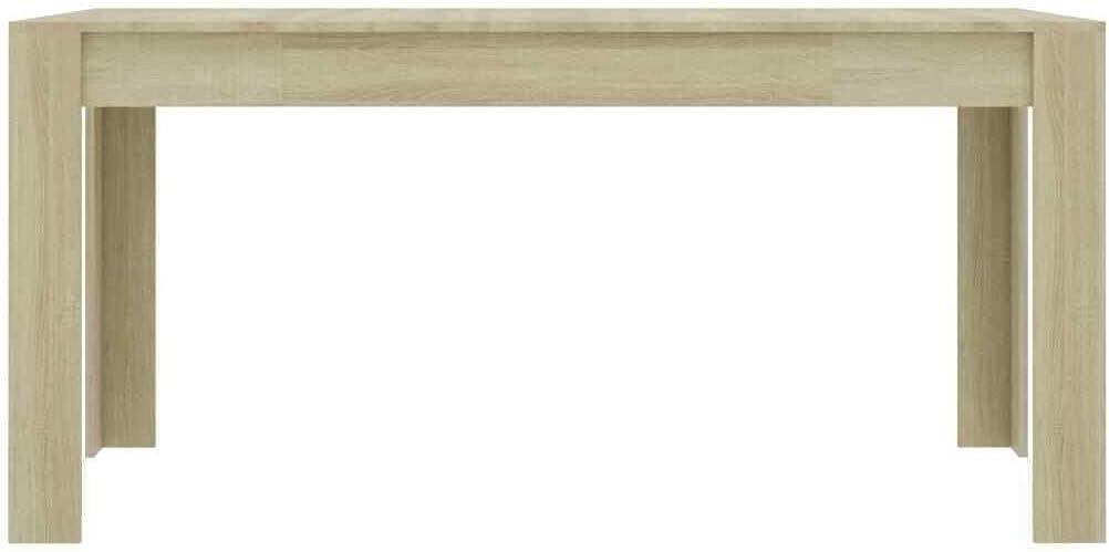 "GXP Dining Table Sleek Modern Sonoma Oak 63"" Chipboard Home Kitchen Dinner"