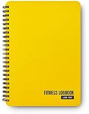 Fitness Logboek Softcover Citroen - Grote Print