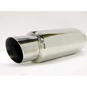 """Megan Racing Universal Exhaust Muffler GT Style 4.5/"""" Tips 2.5/"""" Inlet"""