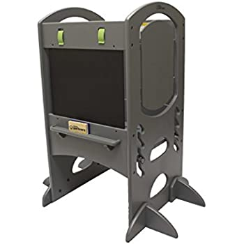 Limited Edition Learning Tower Kids Adjustable Height Kitchen Step Stool with Safety Rail u2013 Wood Construction  sc 1 st  Amazon.com & Amazon.com: Little Helper FunPod Kitchen Step Stool Tower with ... islam-shia.org