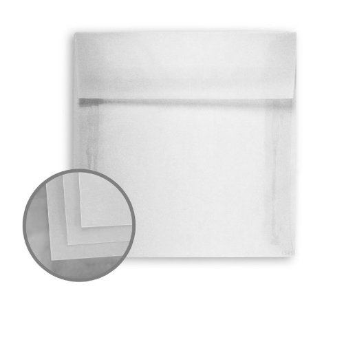 Glama Natural Clear Envelopes - No. 5 Square (5 x 5) 29 lb Bond Translucent Vellum 250 per Box