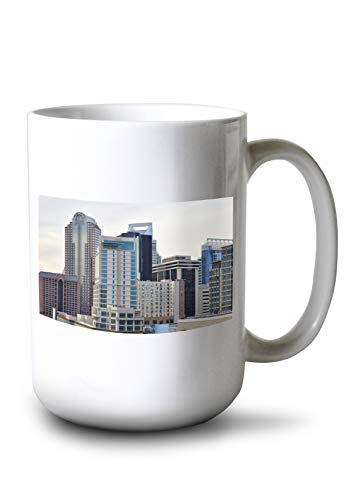 Lantern Press Charlotte, North Carolina - Skyline - Photography A-93133 (15oz White Ceramic Mug)